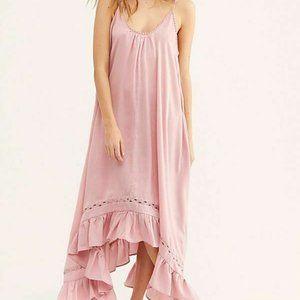 Free People Amor Amor Maxi Slip Dress Pink New